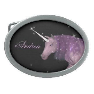 Purple Unicorn Sparkles Belt Buckle