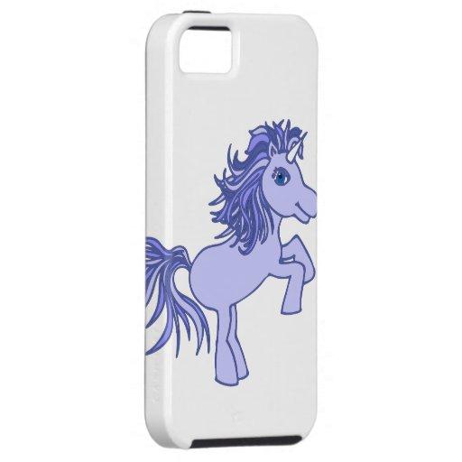 Purple Unicorn White iPhone 5 Case