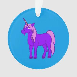 Purple Unicorn with Pink Mane Ornament