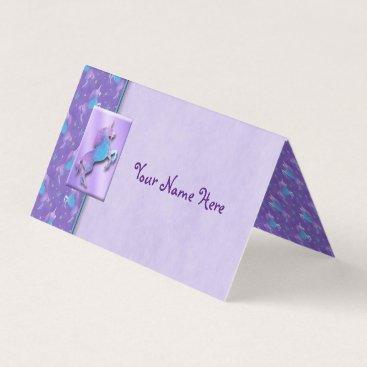 linda_mn Purple Unicorns Pink Stars Place Card