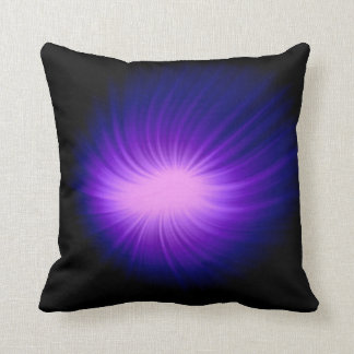 Purple Unidentified flying object - UFO Throw Pillow