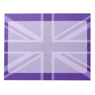 Purple Union Jack Design Notepad
