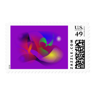 Purple Universe 2 Postage Stamps
