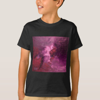 """PURPLE UNIVERSE ABSTRACT"" TEE SHIRT"