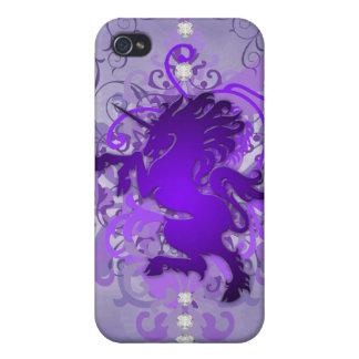 Purple Urban Fantasy Unicorn 4g I iPhone 4 Cases