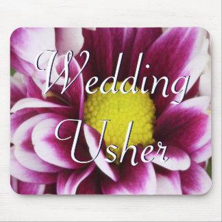 Purple Usher Bouquet Mouse Pad