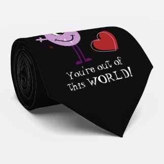 Purple Valentine Alien Monster Tie