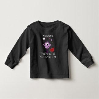 Purple Valentine Alien Monster Toddler T-shirt