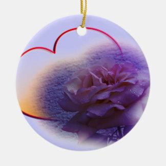 Purple Valentine Fibro Awareness Ornaments