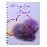 Purple Valentine Fibro Awareness Spiral Notebook