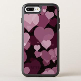 Purple Valentine Heart OtterBox Symmetry iPhone 7 Plus Case