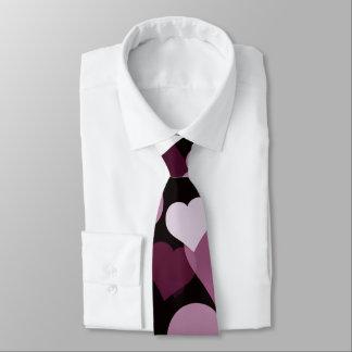 Purple Valentine Hearts Tie
