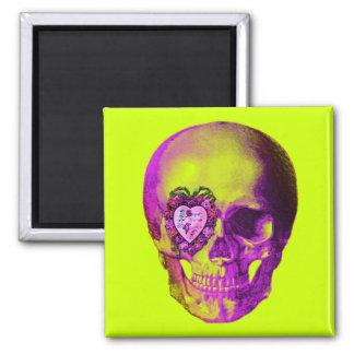 Purple Valentine Skull Magnet