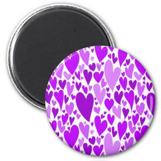 Purple Valentine's hearts magnet Magnet