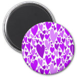 Purple Valentine's hearts magnet Magnet