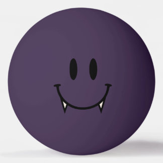 Purple Vampire Smiley Ping Pong Ball