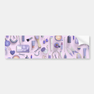Purple Vanity Table Bumper Sticker