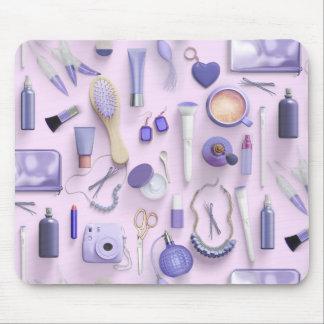 Purple Vanity Table Mouse Pad