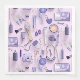 Purple Vanity Table Paper Dinner Napkin
