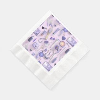 Purple Vanity Table Paper Napkin