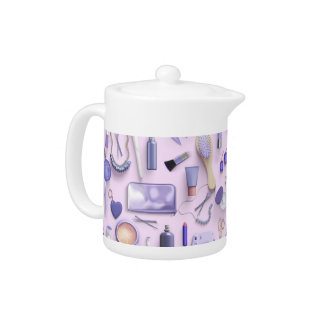 Purple Vanity Table Teapot
