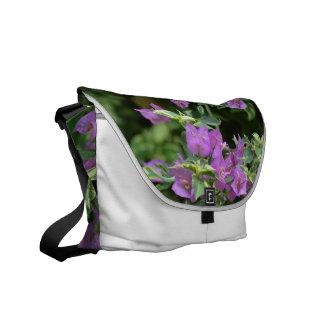 Purple Variegated Crepe and Myrtle Messenger Bag
