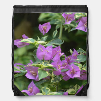 Purple Variegated Crepe and Myrtle Drawstring Bag