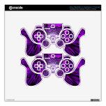 purple vector PS3 controller skin