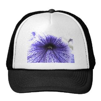 Purple Vein Patterned Flower Trucker Hat