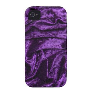 Purple Velvet Fabric Case-Mate iPhone 4 Covers