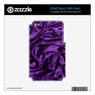 Purple Velvet Fabric Skin For iPod Touch 4G