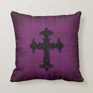 Purple Velvet look Cushion Pillow