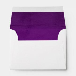 Purple Velvet Textured Lining A6 Envelopes