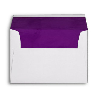 Purple Velvet Textured Lining A7 Envelope