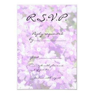 Purple Verbena 3.5x5 Paper Invitation Card