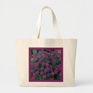 PURPLE VERBENA Eco-Friendly Grocery Tote Tote Bags
