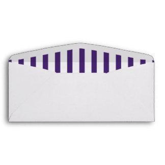 Purple Vertical Stripes Envelope