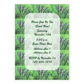 Purple Vervain Wildflower Floral Art Invitation