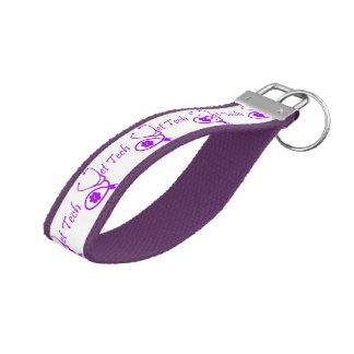 purple vet tech keychain