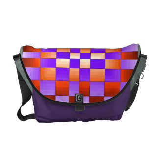 Purple Vibrant Spectrum Chess Board Colorful Fun Messenger Bags
