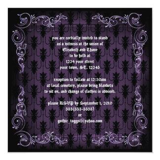 Purple Victorian Goth Print Invitation