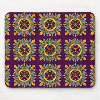 Purple Victorian Tile Design Mouse Pad