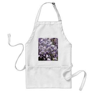 Purple Vine Wisteria Flowers Wildflowers Photo Adult Apron