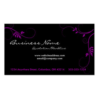 Purple Vines Business Cards