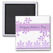 Purple Vines Mother's Day Message magnet