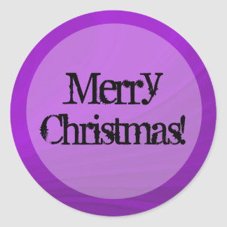 Purple Vintage background Merry Christmas Stickers