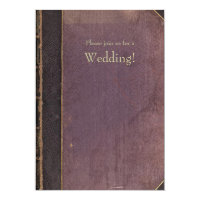 Purple Vintage Book Wedding Invitation