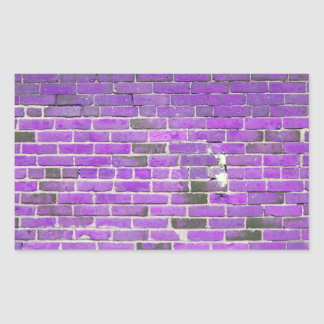 Purple Vintage Brick Wall Texture Rectangular Sticker
