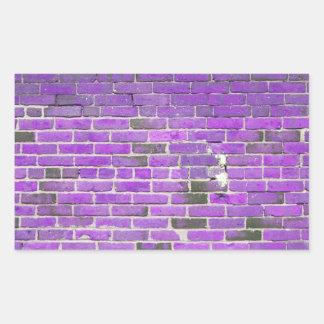Purple Vintage Brick Wall Texture Rectangle Stickers
