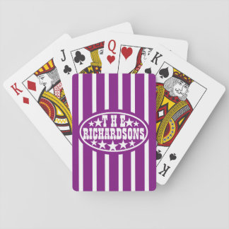 Purple Vintage Carnival Family Playing Cards